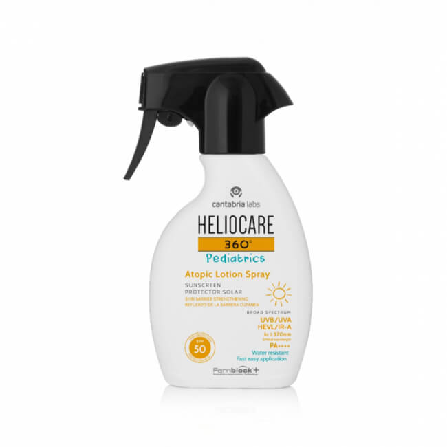 Pediatrics Atopic Lotion Spray SPF50 + van Heliocare 360°